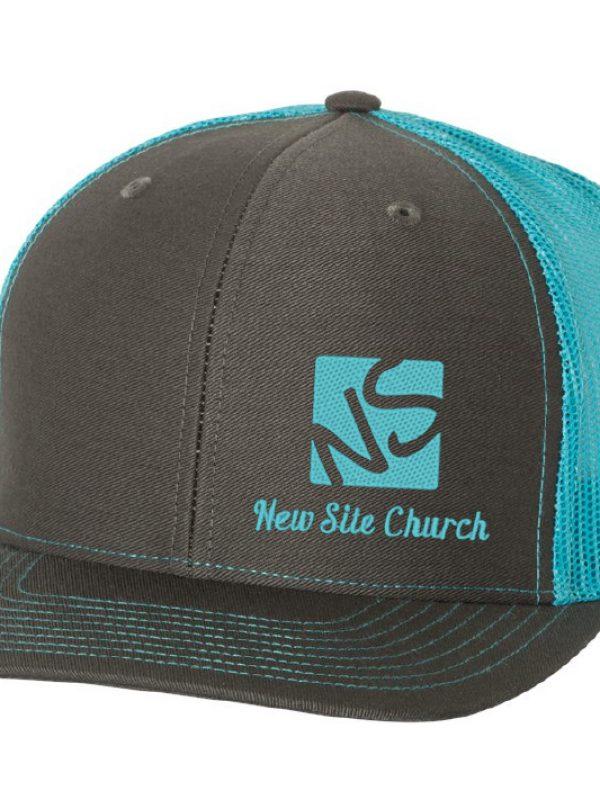 teal hat